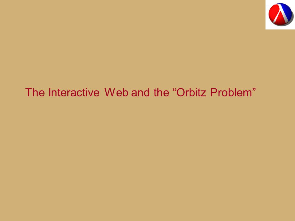 The Interactive Web and the Orbitz Problem