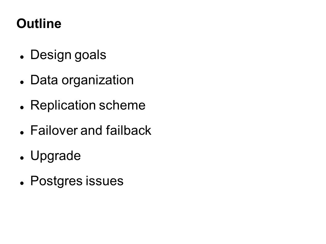DESIGN GOALS OF THE METADATA MANAGER
