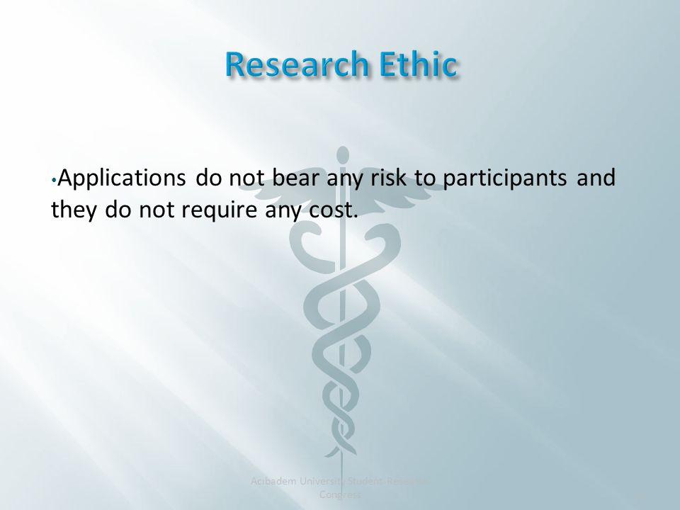 Applications do not bear any risk to participants and they do not require any cost.