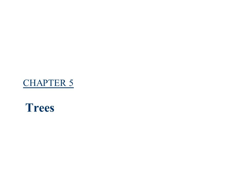CHAPTER 52 Trees Root leaf