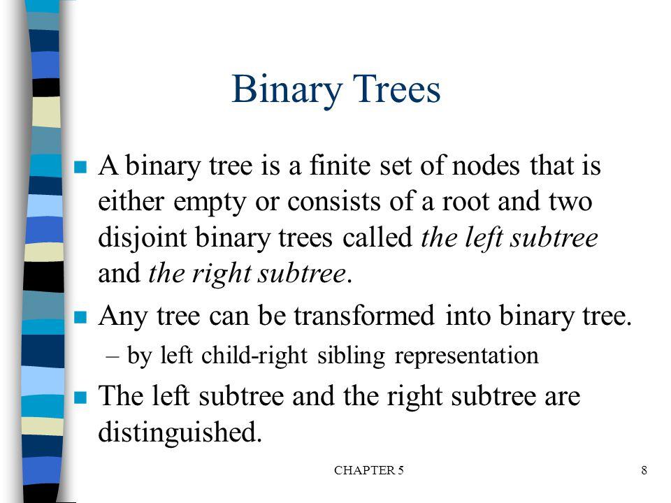 J IM H L A B C D E F G K *Figure 5.6: Left child-right child tree representation of a tree (p.191)