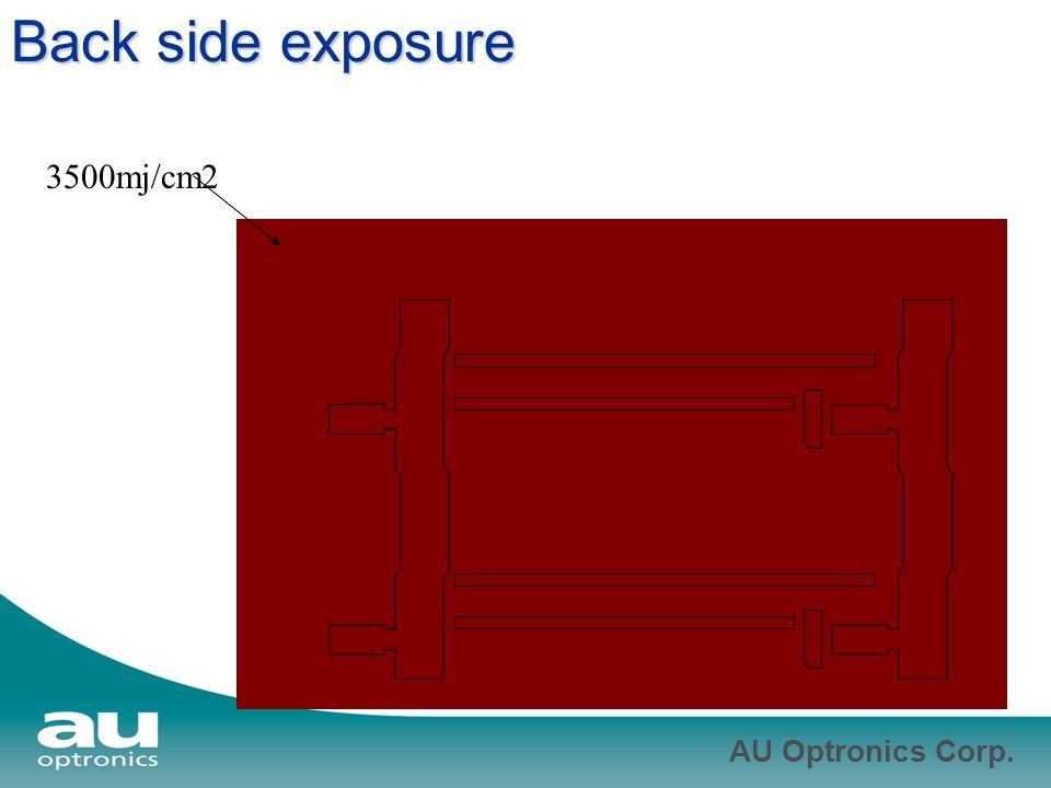 AU Optronics Corp. Back side exposure 3500mj/cm2
