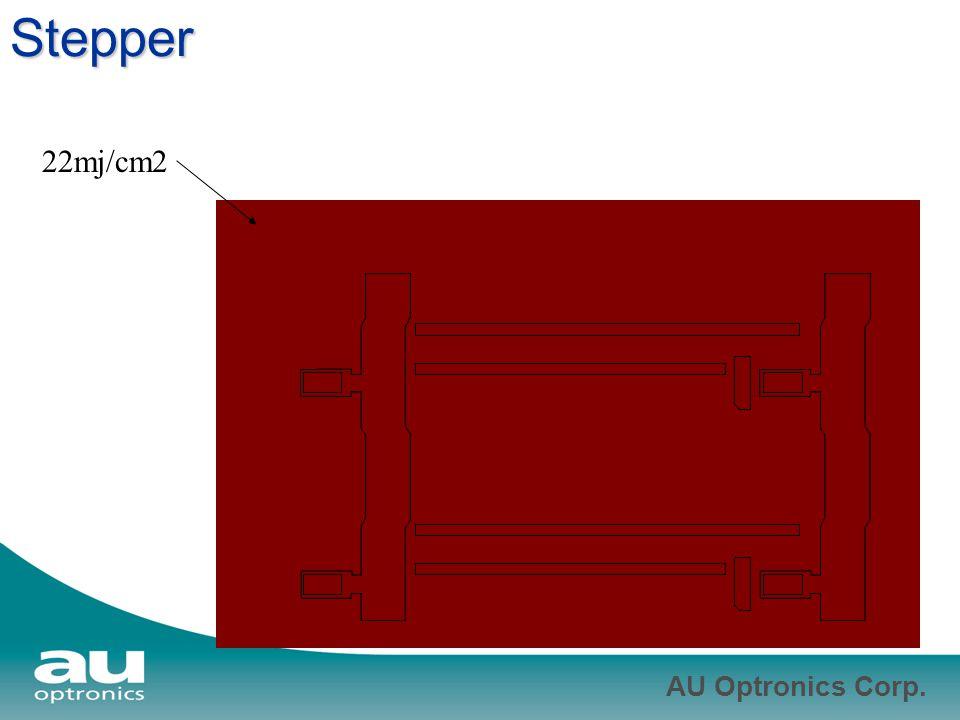 AU Optronics Corp. Stepper 22mj/cm2