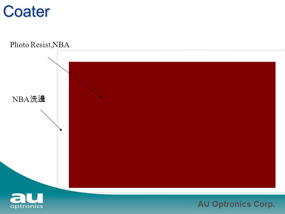 AU Optronics Corp. Coater Photo Resist,NBA NBA 洗邊