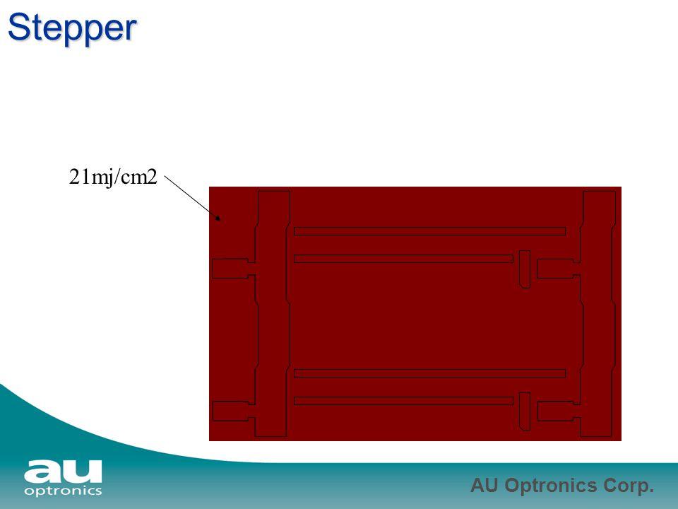 AU Optronics Corp. Stepper 21mj/cm2