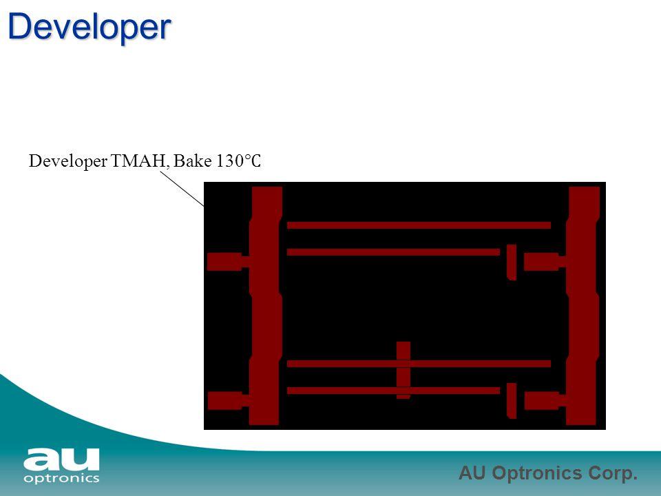 AU Optronics Corp. Developer Developer TMAH, Bake 130 ℃