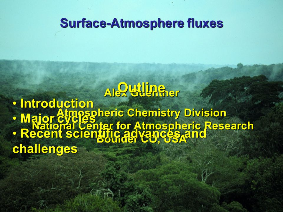 Water Cycle: source of OH in the atmosphere Separating evapotranspiration into evaporation and transpiration components is an active area of research Atmospheric Chemistry and Global Change (1999).