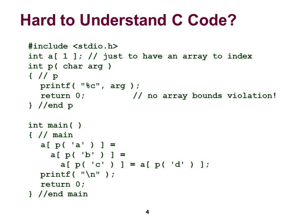 5 Hard to Understand Code.