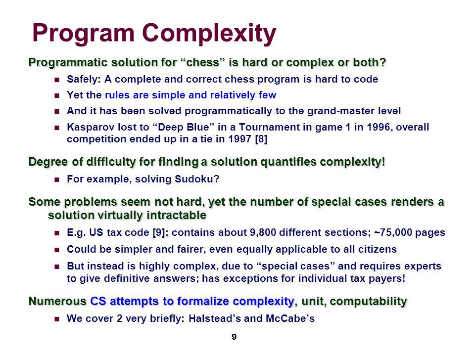10 Complex vs.