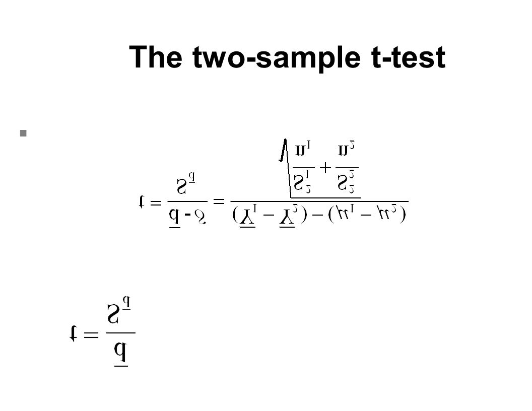 The two-sample t-test n