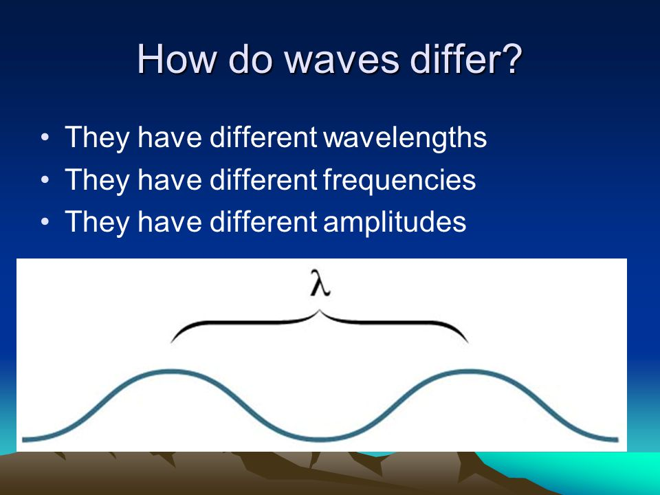 How do waves differ.