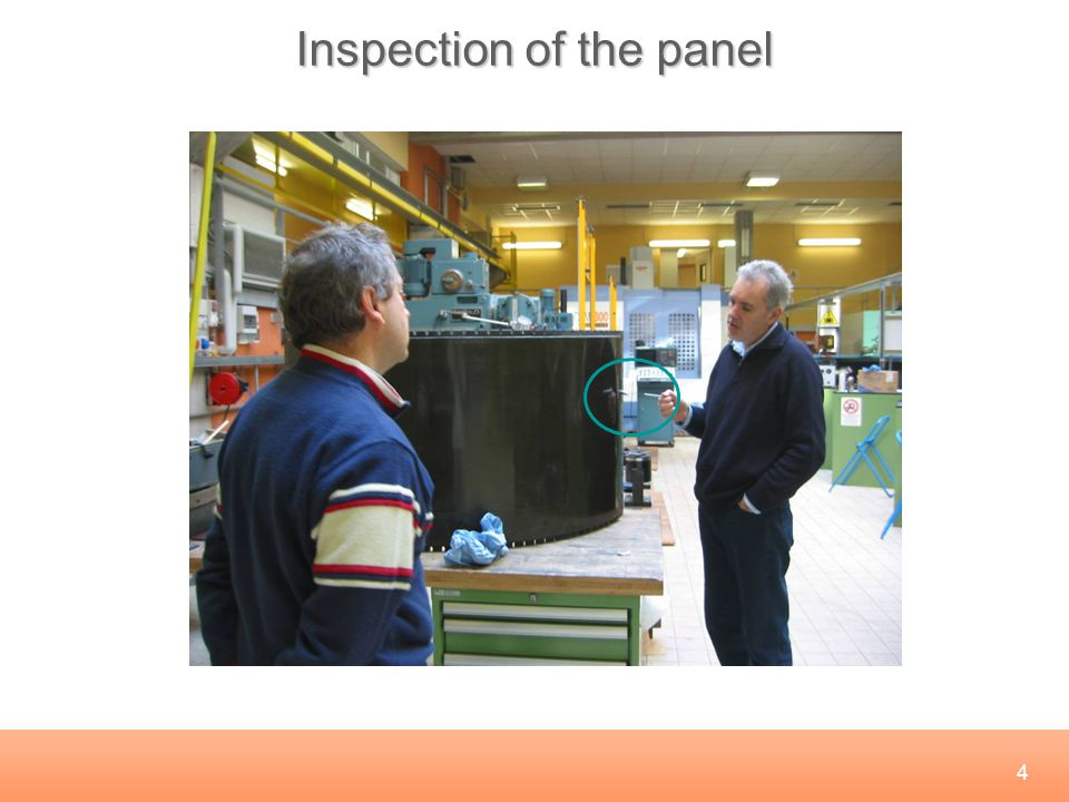 4 Inspection of the panel