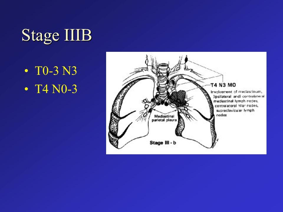 Stage IIIB T0-3 N3 T4 N0-3
