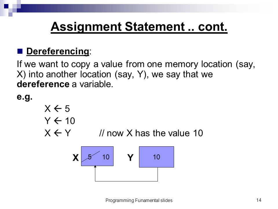 Programming Funamental slides14 Assignment Statement..