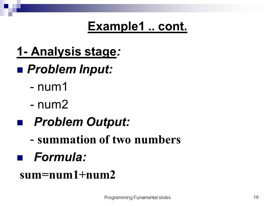 Programming Funamental slides16 Example1..cont.