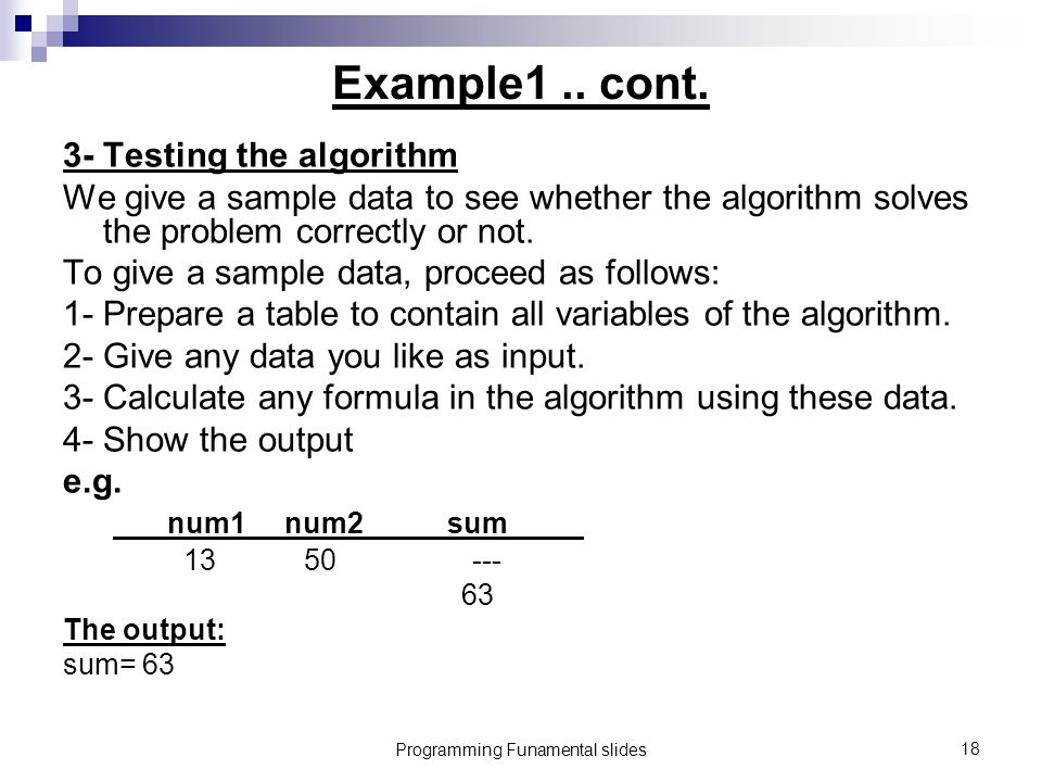 Programming Funamental slides18 Example1..cont.