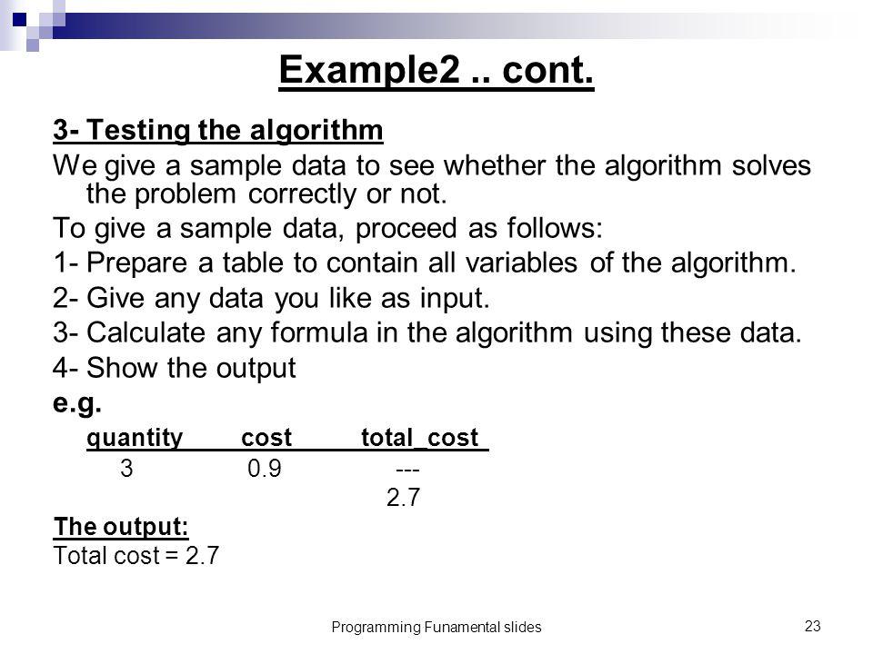 Programming Funamental slides23 Example2..cont.