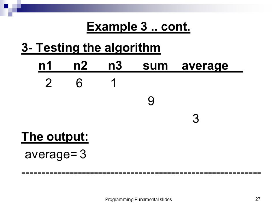 Programming Funamental slides27 Example 3.. cont.