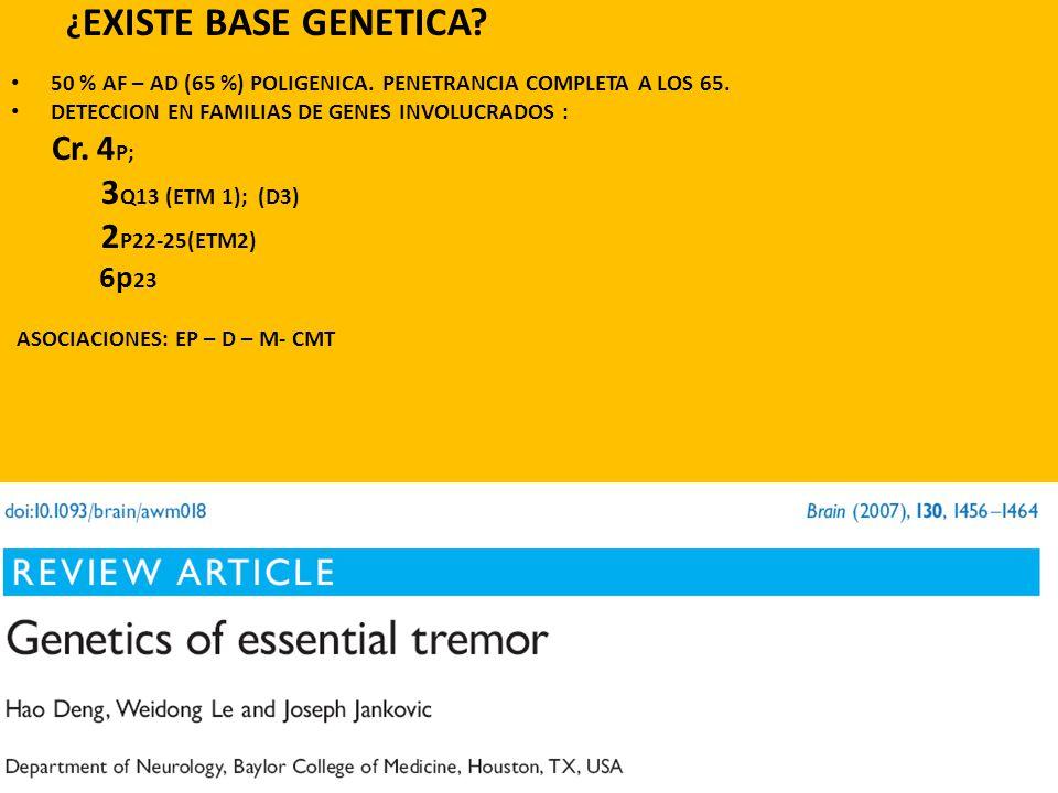 ¿ EXISTE BASE GENETICA. 50 % AF – AD (65 %) POLIGENICA.