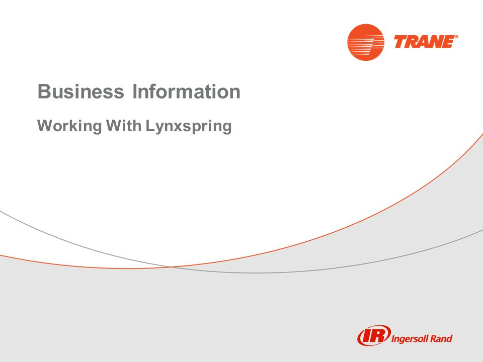 Business Information Working With Lynxspring