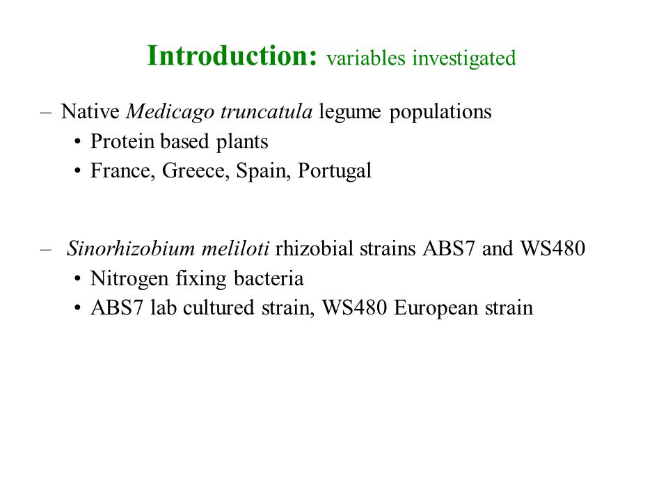 Mutualistic response strain inoculations The ABS7-WS480 rhizobia strain inoculation proved to be the most powerful symboiant.