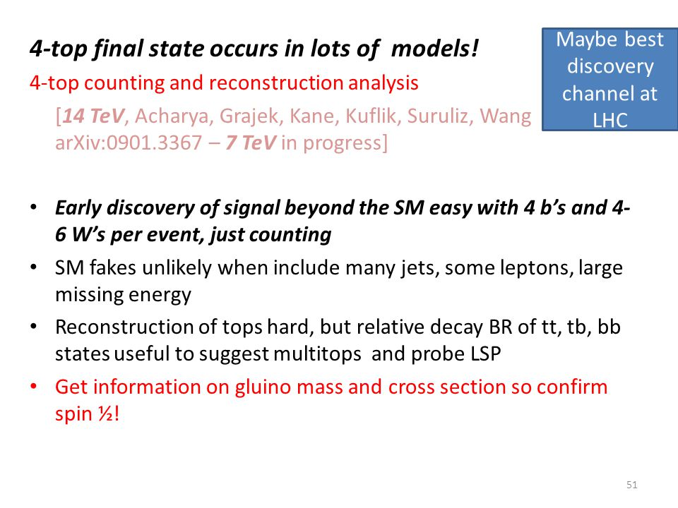 4-top final state occurs in lots of models.