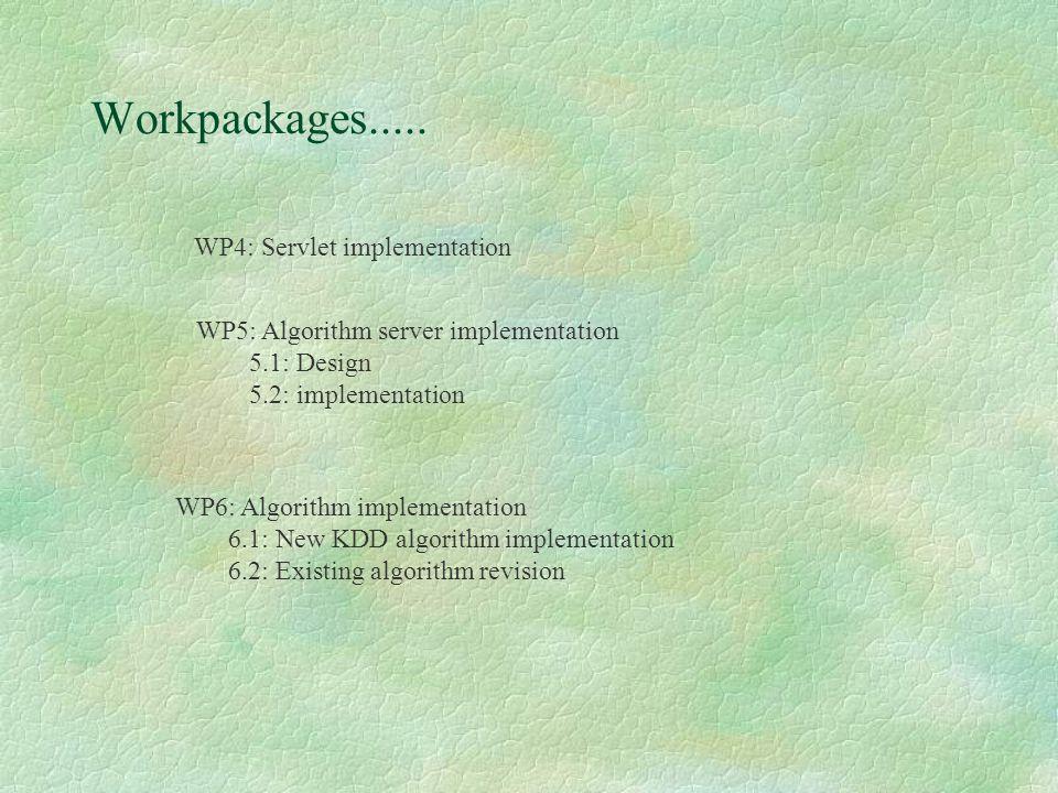Workpackages.....