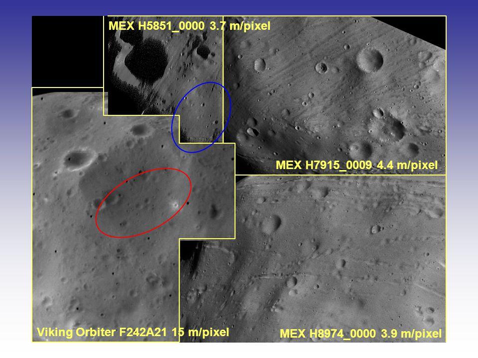 MEX H8974_0000 3.9 m/pixel MEX H7915_0009 4.4 m/pixel MEX H5851_0000 3.7 m/pixel Viking Orbiter F242A21 15 m/pixel