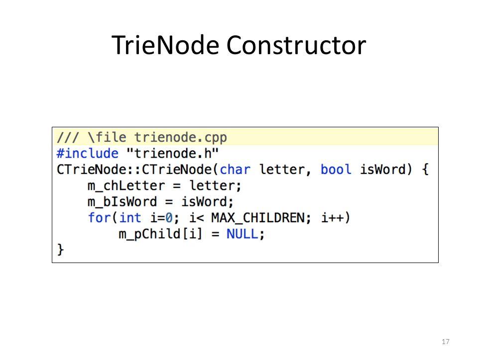TrieNode Constructor 17