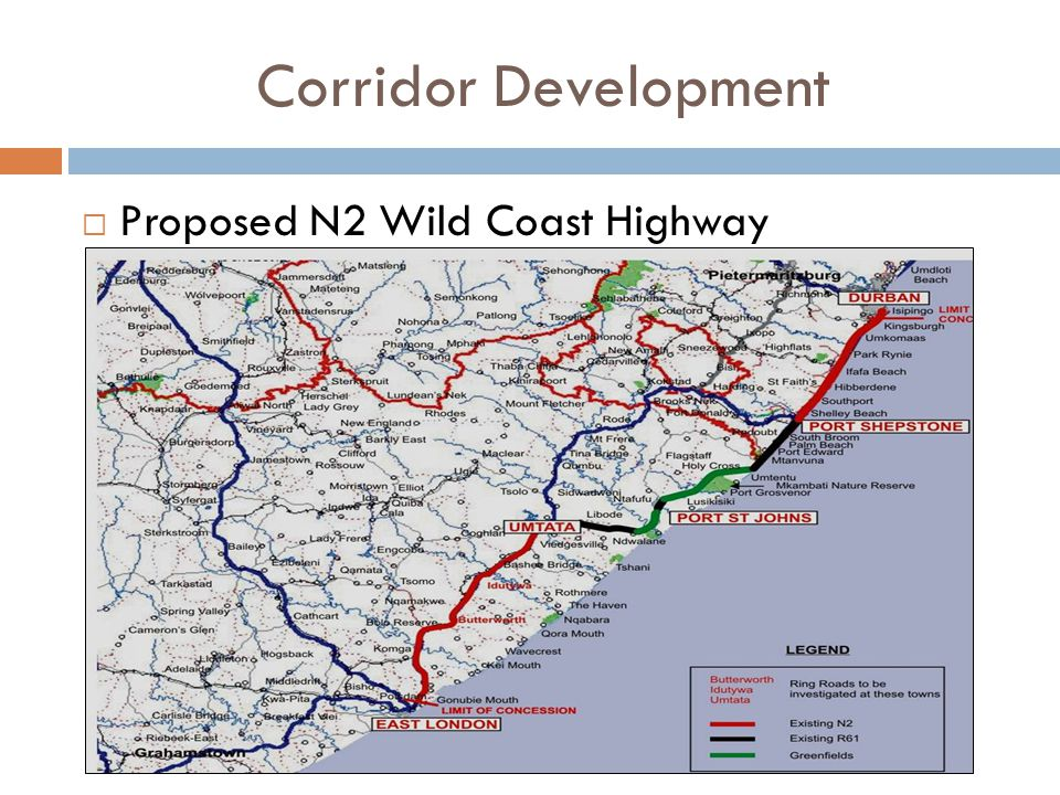 Corridor Development  Proposed N2 Wild Coast Highway