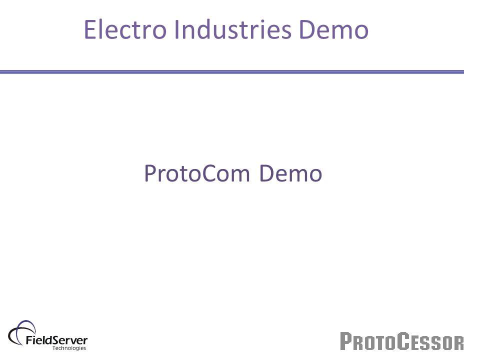 Electro Industries Demo ProtoCom Demo
