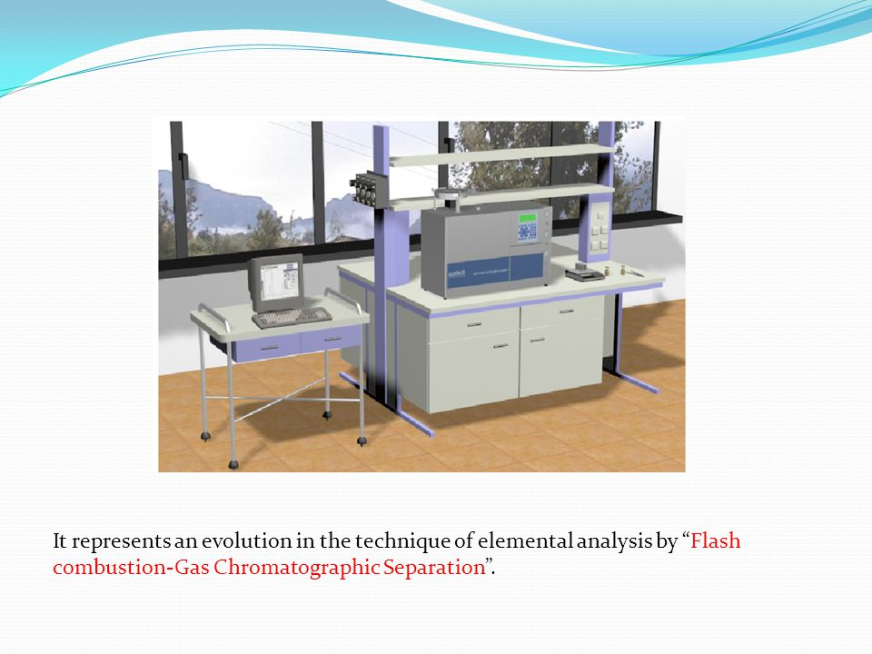 "It represents an evolution in the technique of elemental analysis by ""Flash combustion-Gas Chromatographic Separation""."