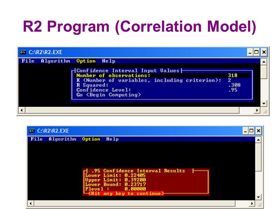 R2 Program (Correlation Model)