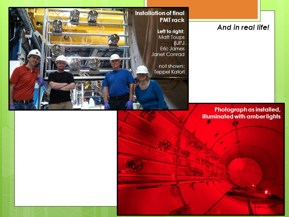 Our Motivation: R&D towards large detectors  PMT-and-plate strategy not scalable to an N-kiloton scale, multi-TPC detector like LBNE  We are also working on lightguide based detectors to slide between TPC units  MicroBooNE will contains 4 prototypes as a long term R&D exercise  We have a dedicated lightguide test stand at MIT, and work is performed in collaboration with Indiana University (in collaboration with Indiana University) Matt Toups, MIT