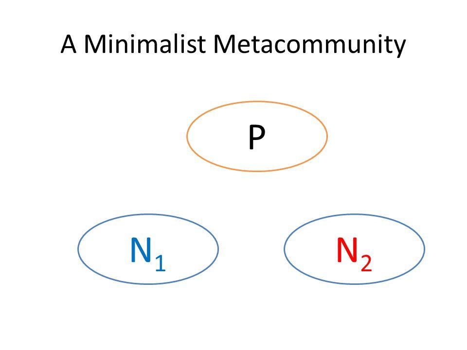 A Minimalist Metacommunity P N2N2 N1N1