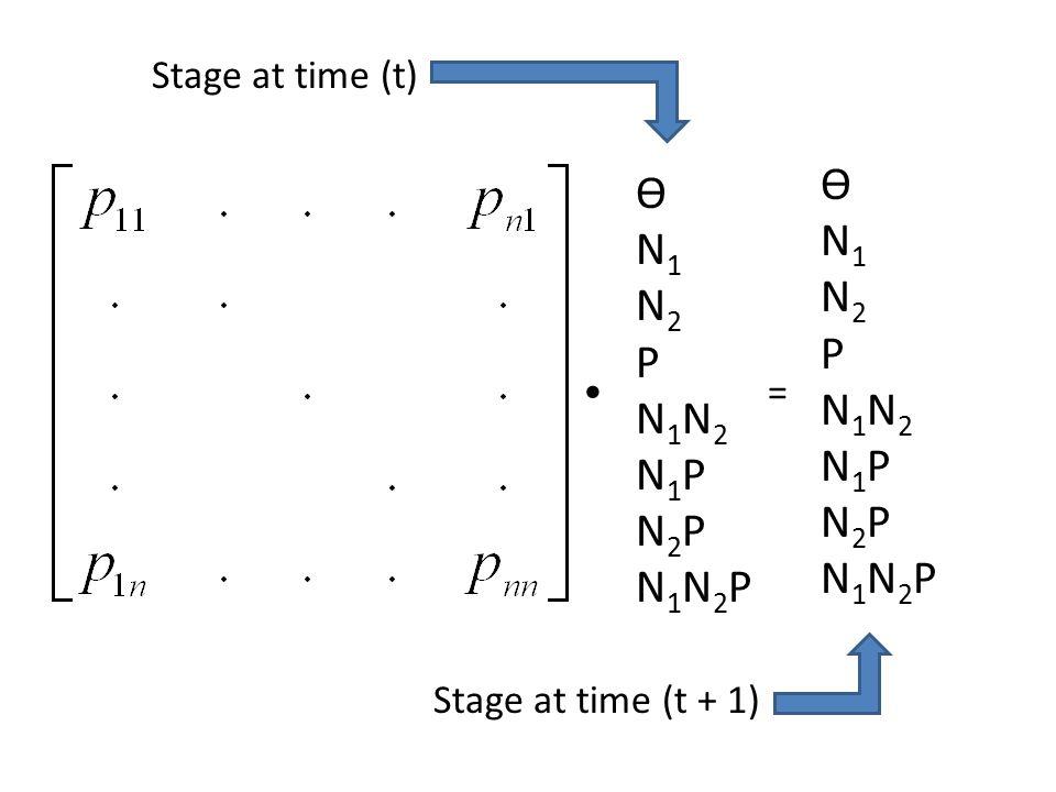 = Stage at time (t + 1) Stage at time (t) ѲN1N2PN1N2N1PN2PN1N2PѲN1N2PN1N2N1PN2PN1N2P ѲN1N2PN1N2N1PN2PN1N2PѲN1N2PN1N2N1PN2PN1N2P