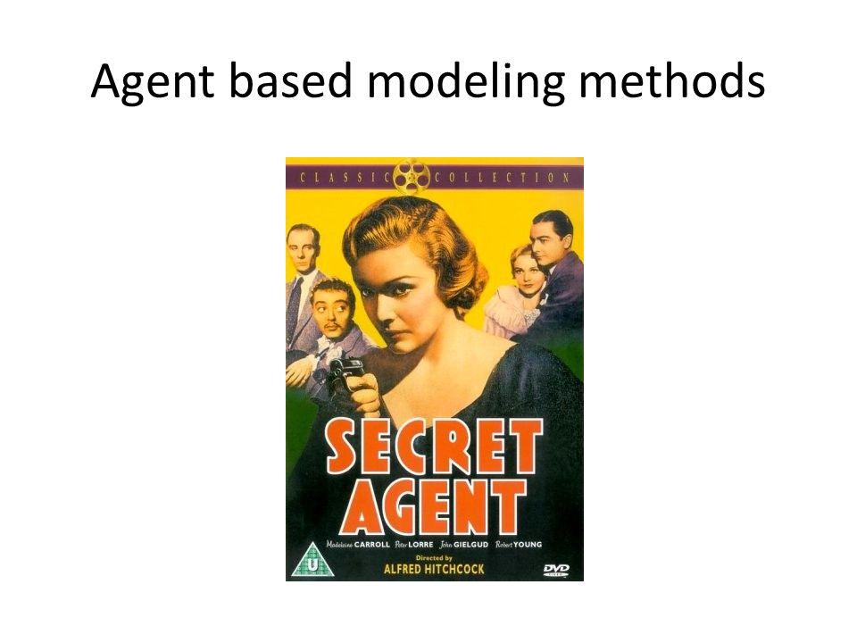Agent based modeling methods