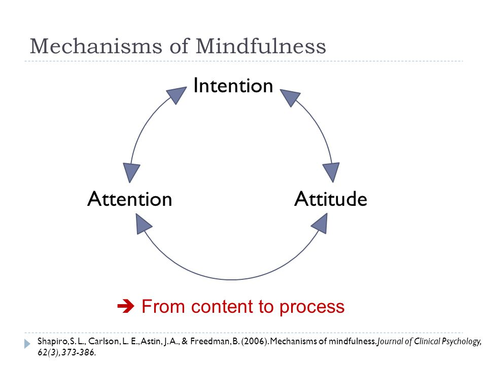 Mechanisms of Mindfulness Attention Intention Attitude Shapiro, S.