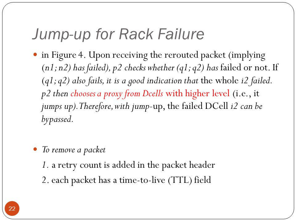 Jump-up for Rack Failure 22 in Figure 4.