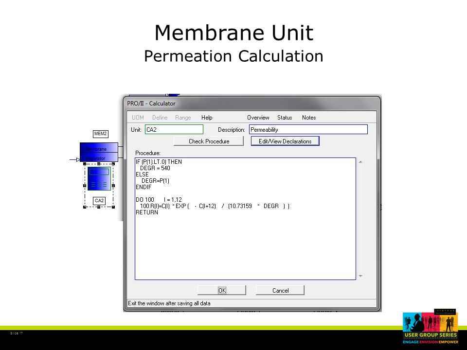 Slide 17 Membrane Unit Permeation Calculation