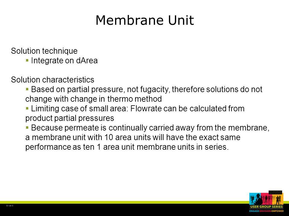 Slide 17 Membrane Unit Permeation Calculation