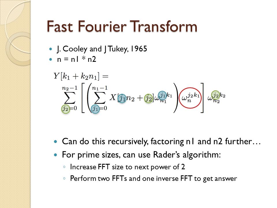Fast Fourier Transform J.