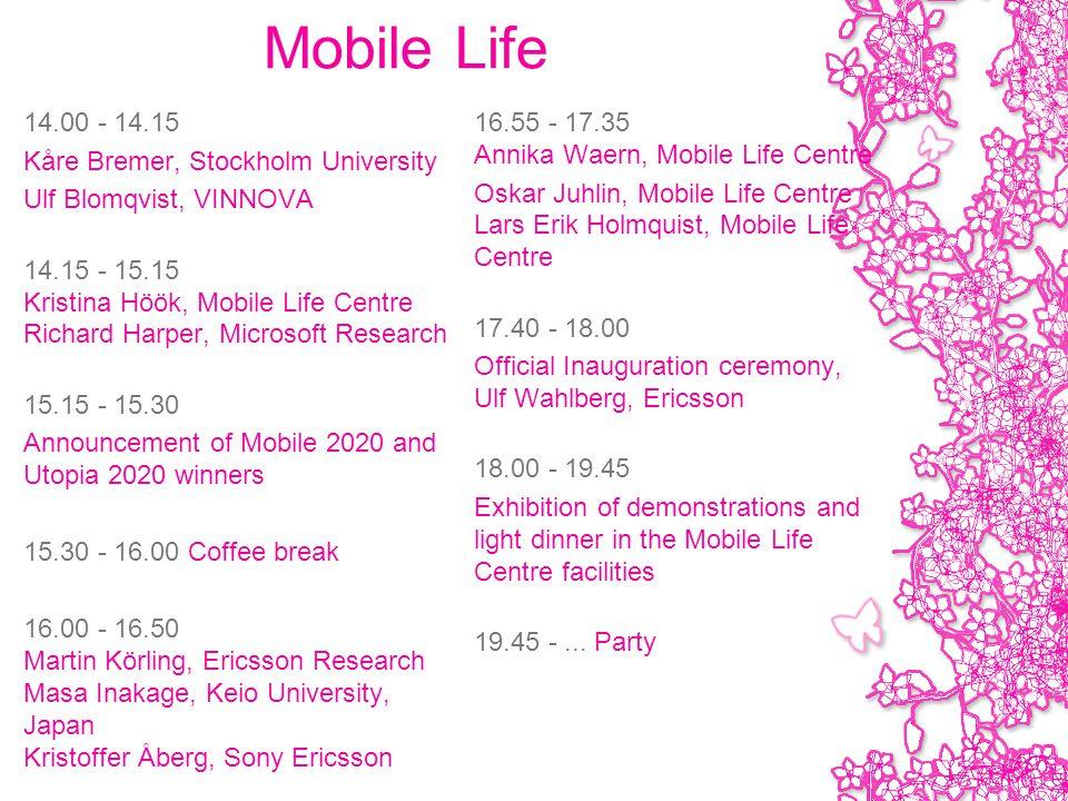 Annika Waern Associate Professor Mobile Life Center