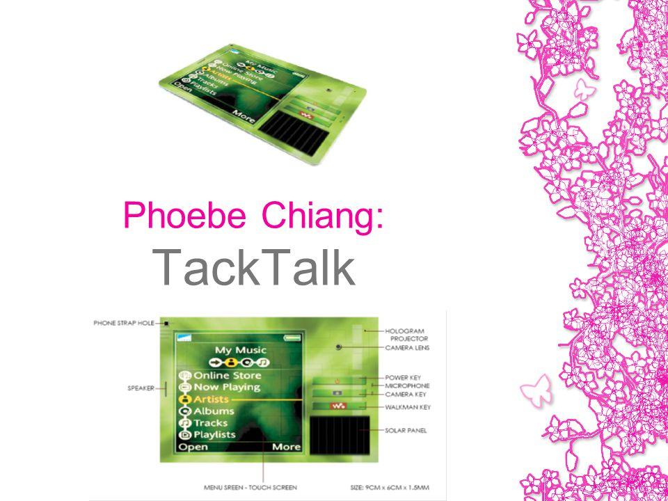 Phoebe Chiang: TackTalk
