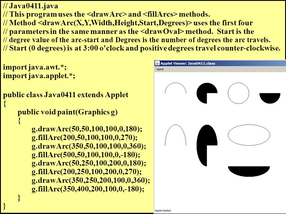 // Java0411.java // This program uses the and methods.