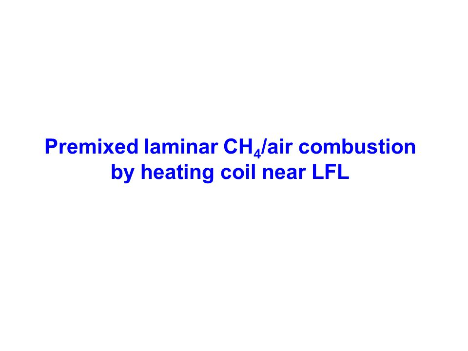 Premixed laminar CH 4 /air combustion by heating coil near LFL