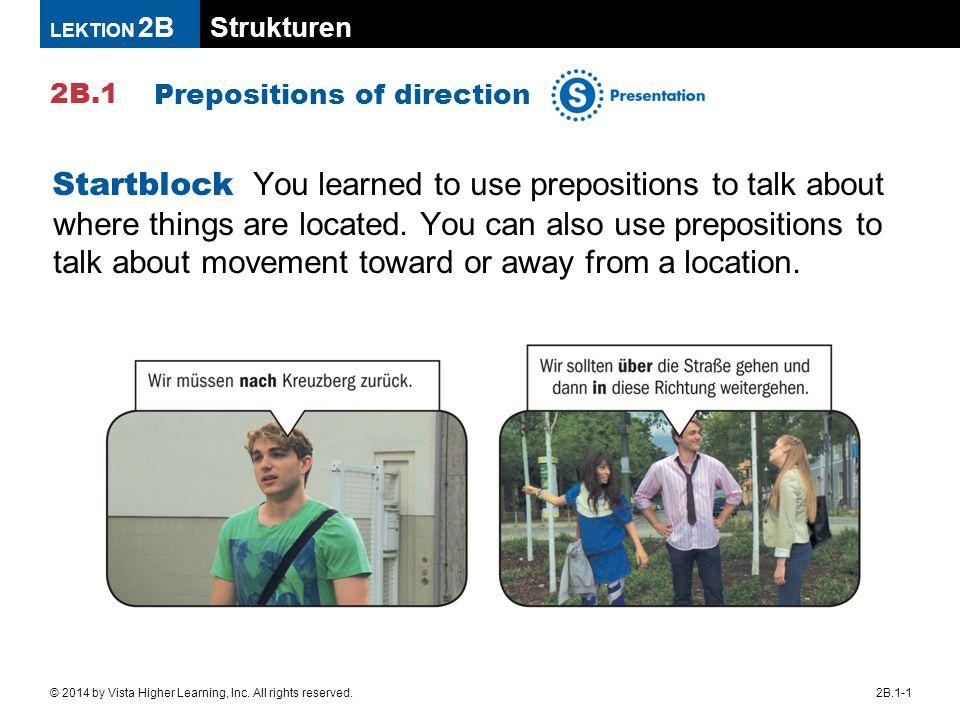 Strukturen 2B.1 LEKTION 2B 2B.1-1© 2014 by Vista Higher Learning, Inc.
