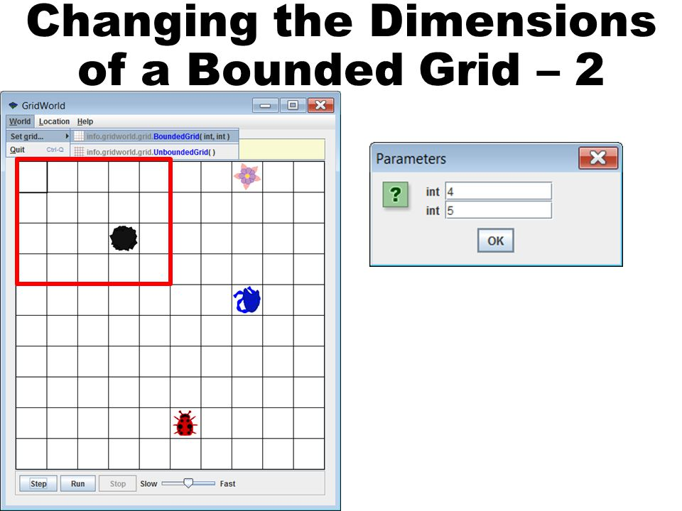 Changing the Dimensions of a Bounded Grid – 2