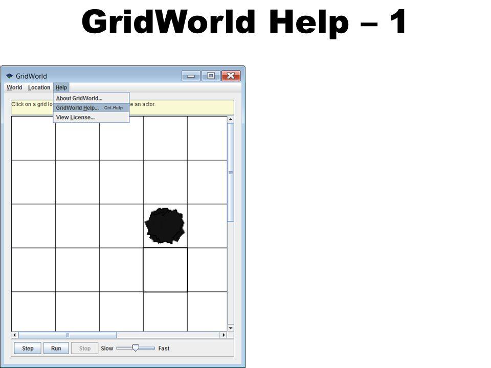 GridWorld Help – 1