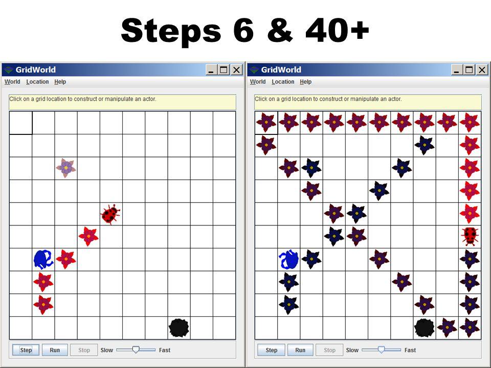 Steps 6 & 40+